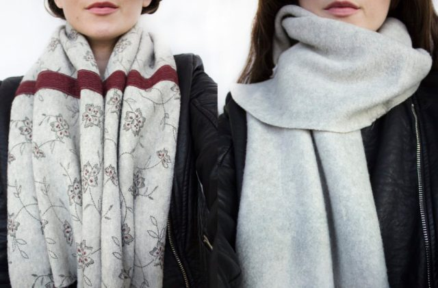 Vest-to-scarf-refashion