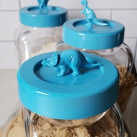 #DIY Dinosaur Storage Jars
