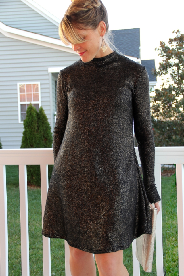 diy sparkle dress for NYE