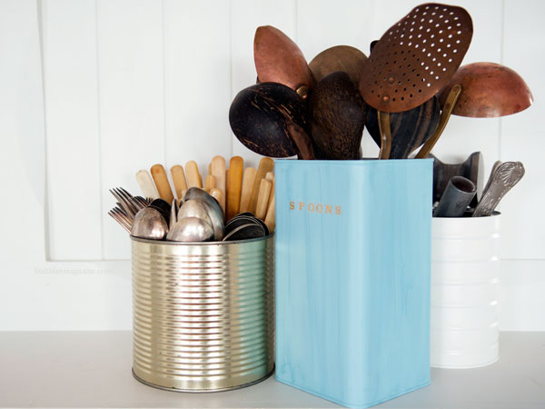 upcycled tin storage