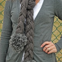 #DIY Braided Sweater Scarf