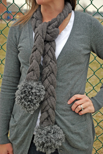 Braided Sweater Scarf