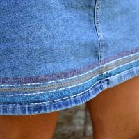 Embroidered Denim Skirt #Refashion