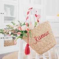 #Embroidered Bag for #Valentine's Day