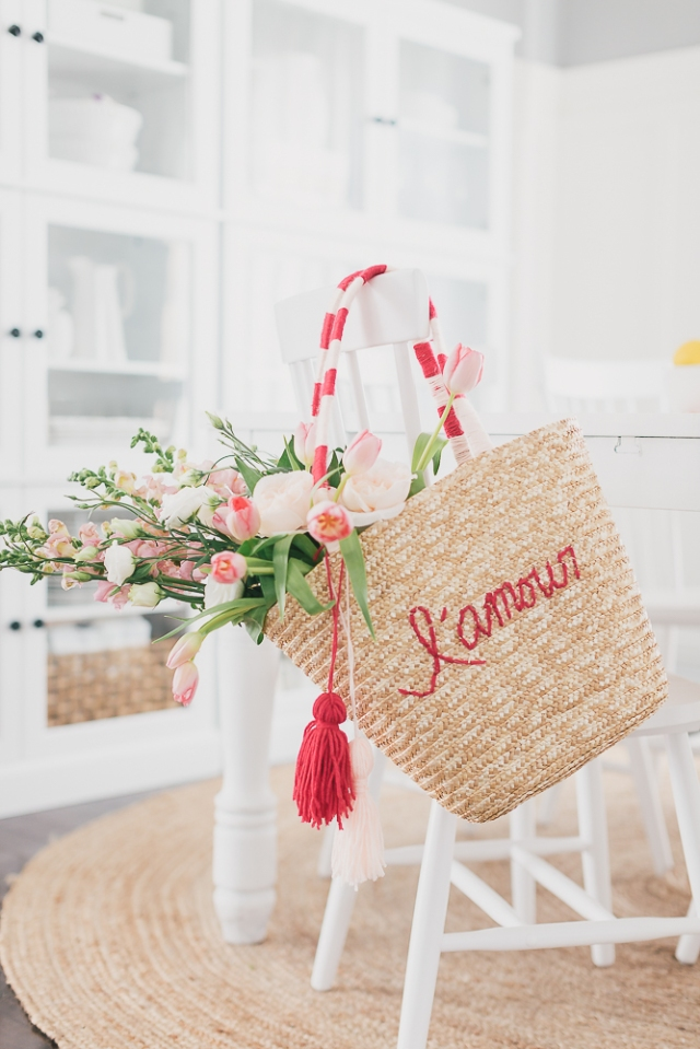 embroidered straw bag tutorial valentine diy