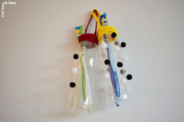 upcycled toothbrush holders