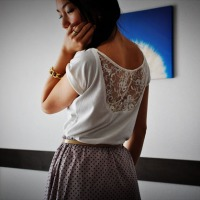 #DIY Lace Back Top