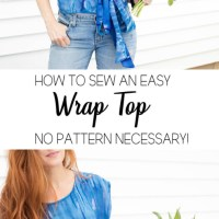 #DIY Wrap Top (a patternless tutorial)