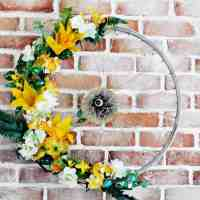#Upcycled Bike Wheel Wreath