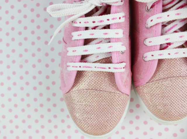 DIY embroidered shoe laces