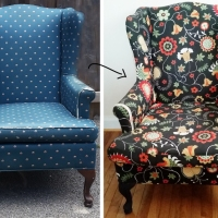 #HowTo #Reupholster a Wingback Chair