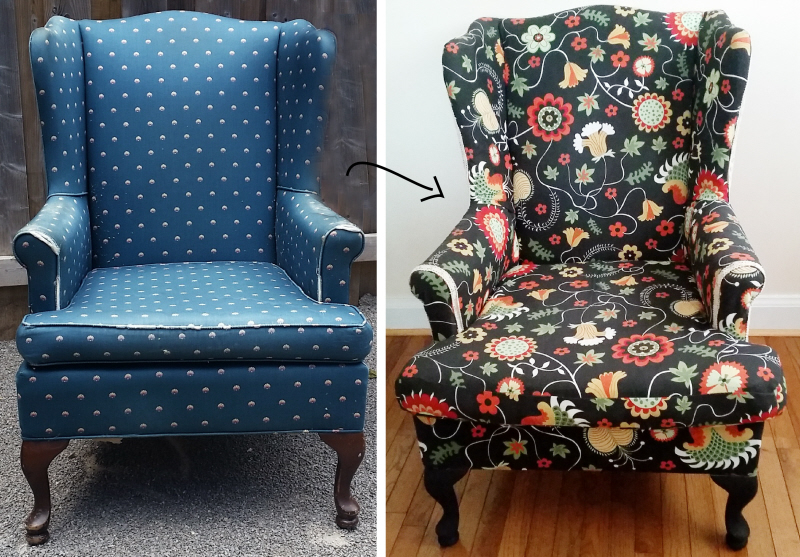 Wonderful How To Reupholster A Wing Back Chair Kopie