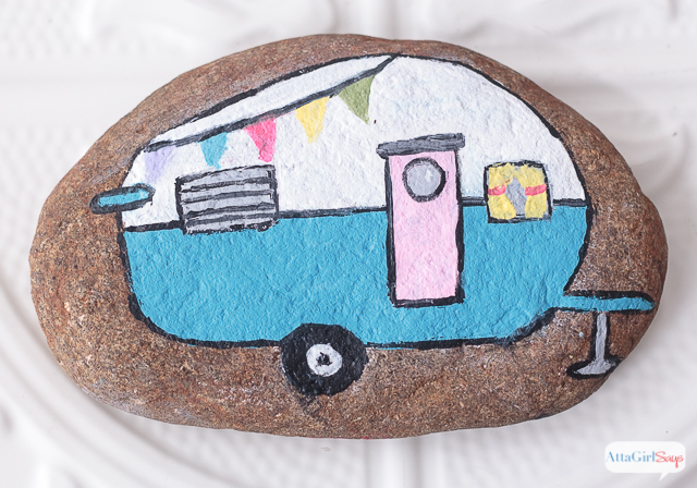 vintage-camper-painted-rocks diy