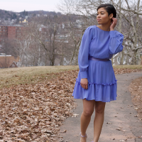 Ruffle Hem Dress #Refashion