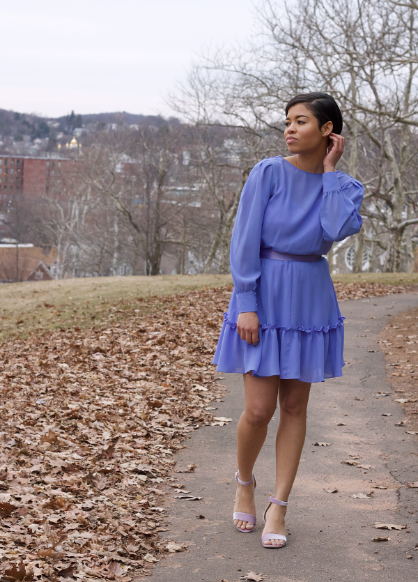 DIY-Cowl-Ruffle-Hem-Dress-Refashion