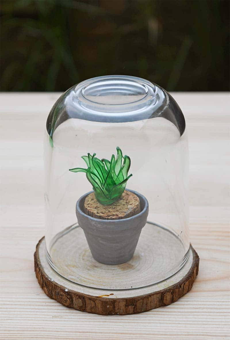 mini-faux-succlulent-terrarium diy upcycle