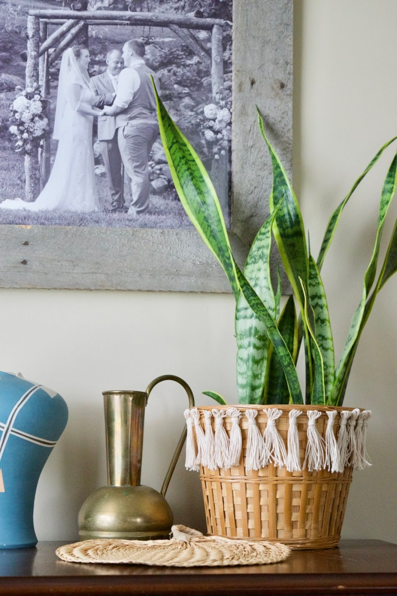 #Thrifted #DIY Tassel Basket