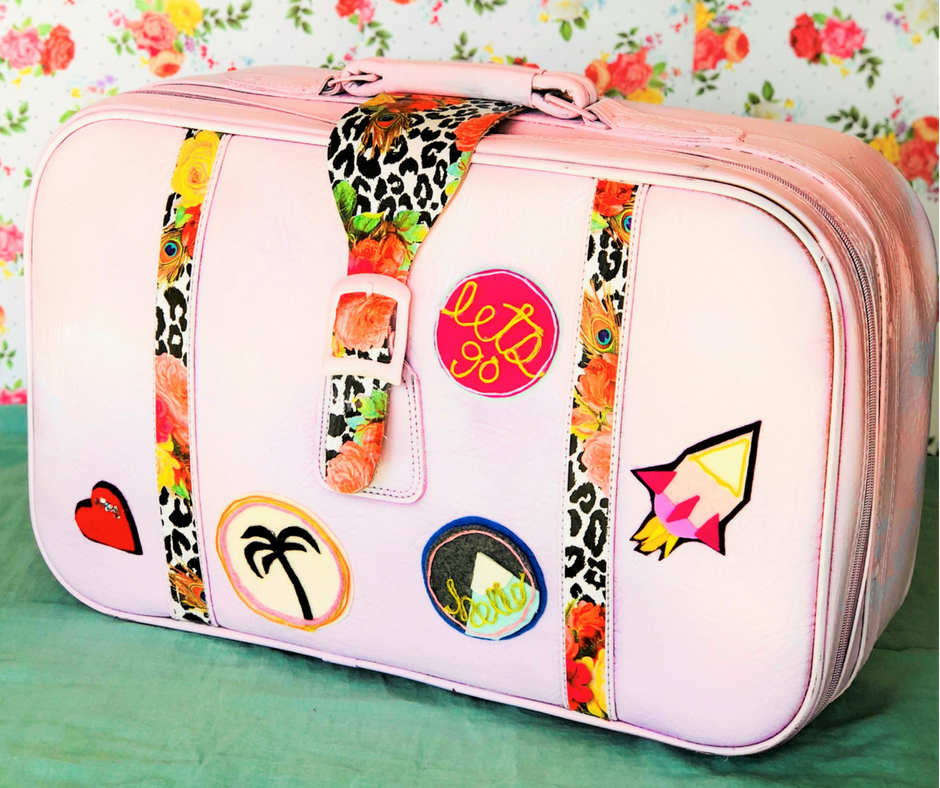 upcycled suitcase tutorial