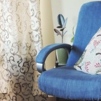 #DIY Denim Office Chair Makeover