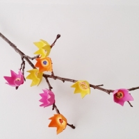 #Upcycled Egg Carton Flowers