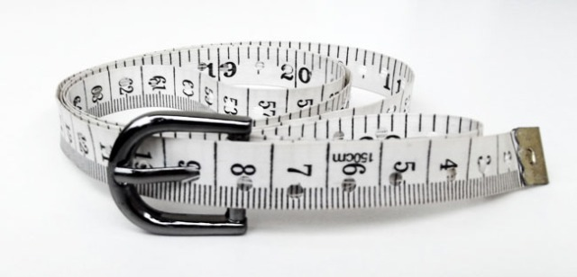 upcycled tape measure belt