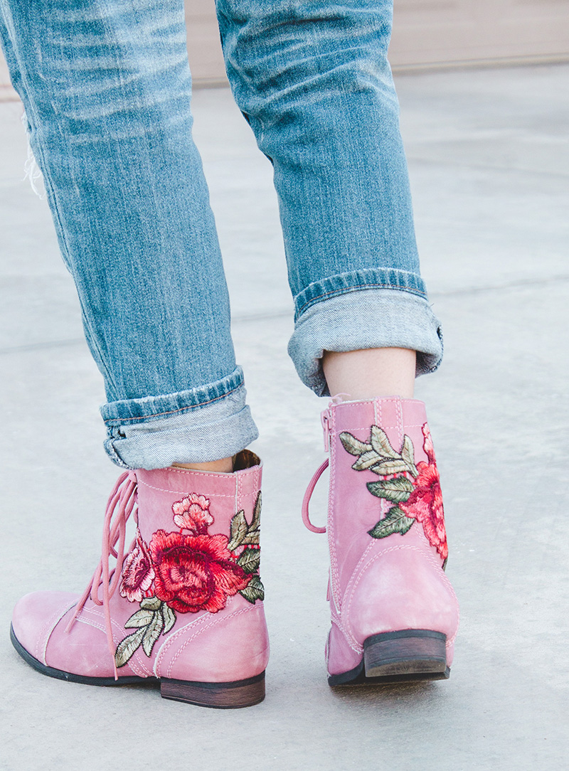 diy patched boots tutorial