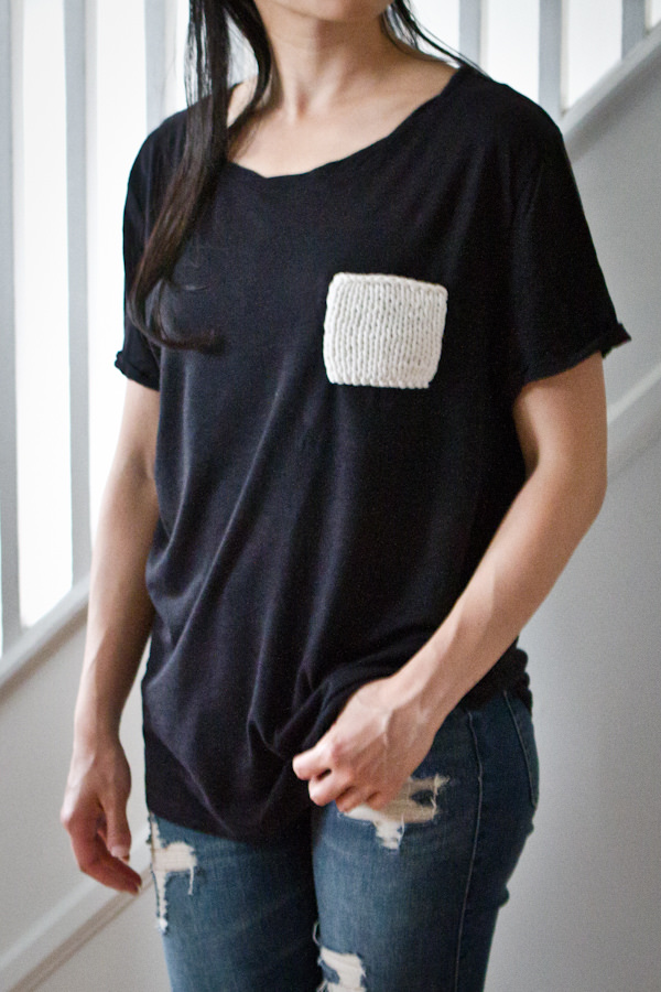 diy knit pocket tee