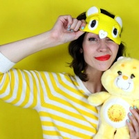 Create a #CareBear Sleeping Mask