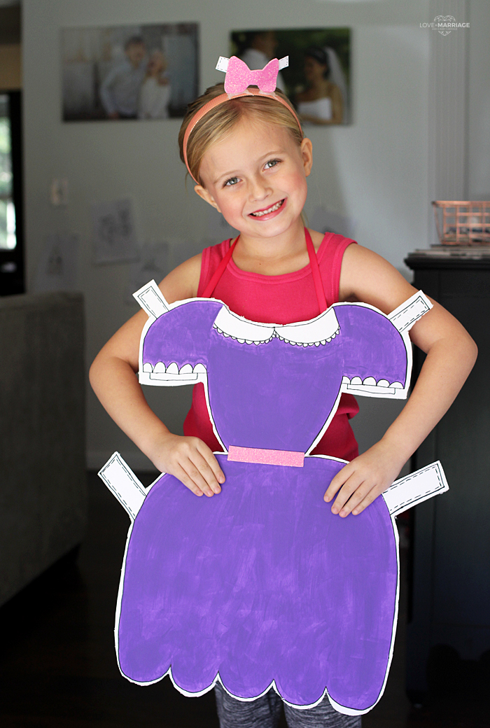 easy diy paper doll ostume