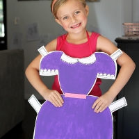 #Upcycled Paperdoll #Costume