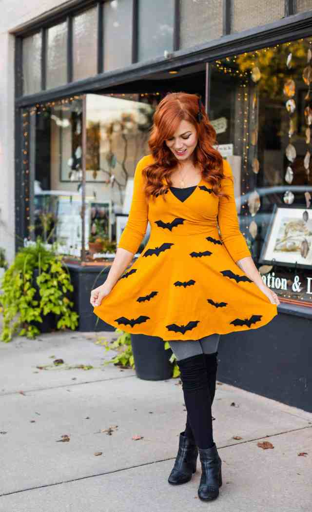 Festive-Halloween-Bat-Dress