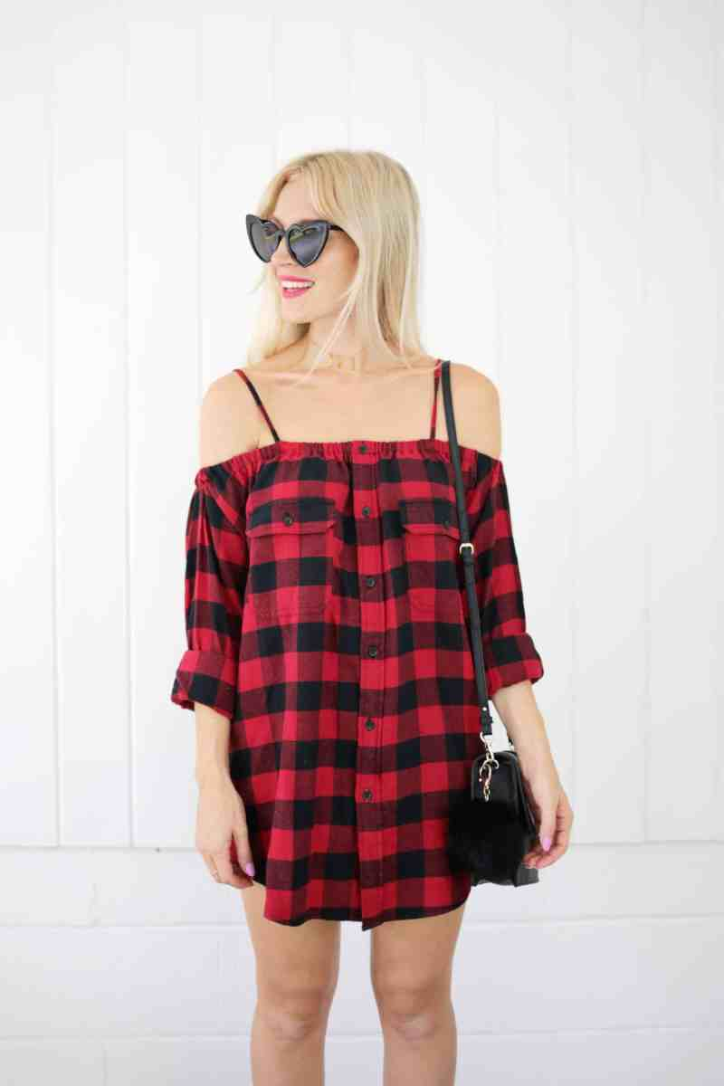 #Upcycled Flannel Shirt Dress