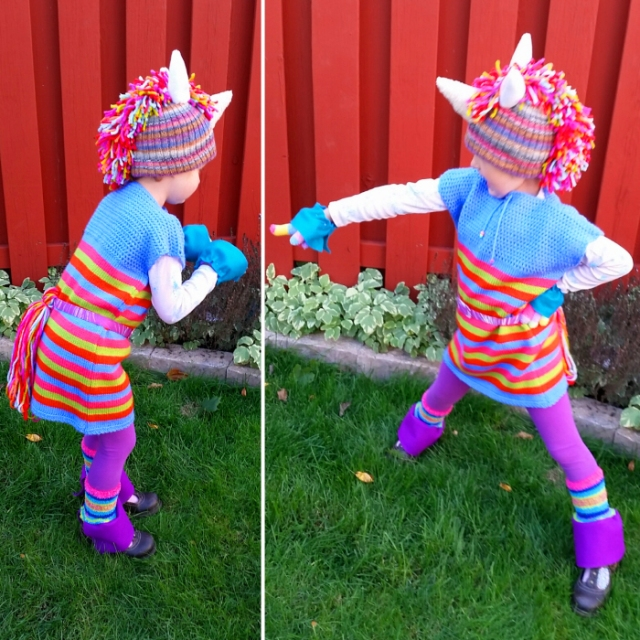 upcycled refashioned rainbow unicorn costume