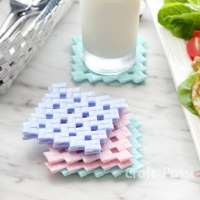 #Upcycled Drinking Straw Coasters