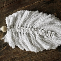 #HowTo make a macrame feather
