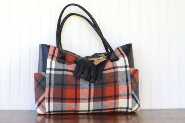 Fall-Flannel-Tote tutorial