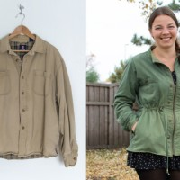 Men's shirt to jacket #refashion