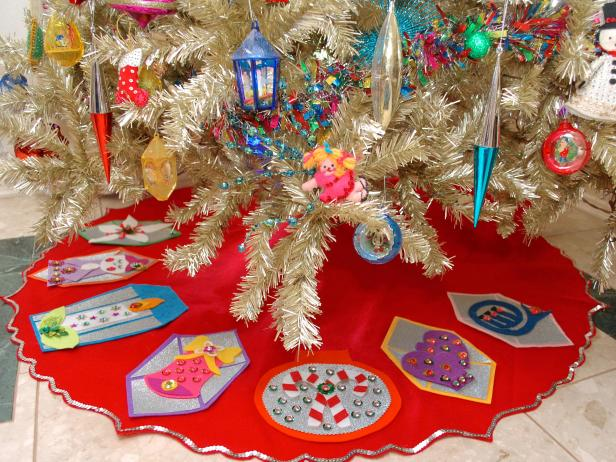 no sew xmas tree skirt tutorial