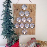 #Upcycled Tin Can Xmas Tree
