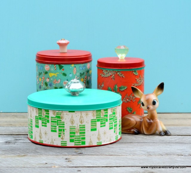 upcycled christmas tins diy wrapping