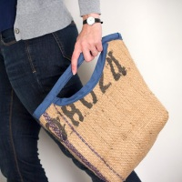 #Upcycled Burlap Sack Bag