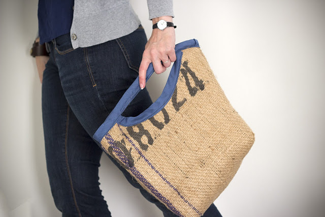 upcycled burlap Bag