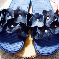 Easy flower embellished sandal #tutorial