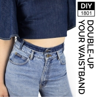 Easy #DIY High-Waisted Jeans
