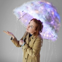 #DIY Rain Cloud Umbrella Costume