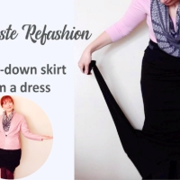 #ZeroWaste Dress to Skirt Refashion