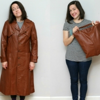 Leather Jacket to Bag #Refashion