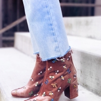 Bug Embellished Boot #Refashion