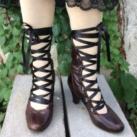 Lace Up Boot #Refashion