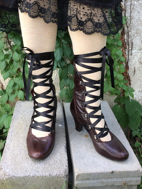 victorian boot refashion